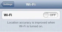 Turn off WiFi if not required