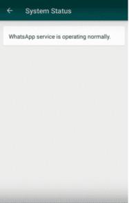 WhatsApp Server Status